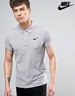 Модная серая футболка поло nike