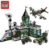 Конструктор Brick 1714 Военная штаб квартира: 627 деталей, 6 фигурок