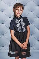 Блуза трикотажная т.синяя