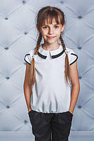 Блуза с воротником белая