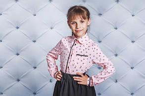 Рубашка для девочки розовая, фото 2