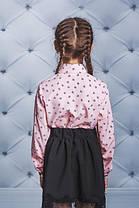 Рубашка для девочки розовая, фото 3