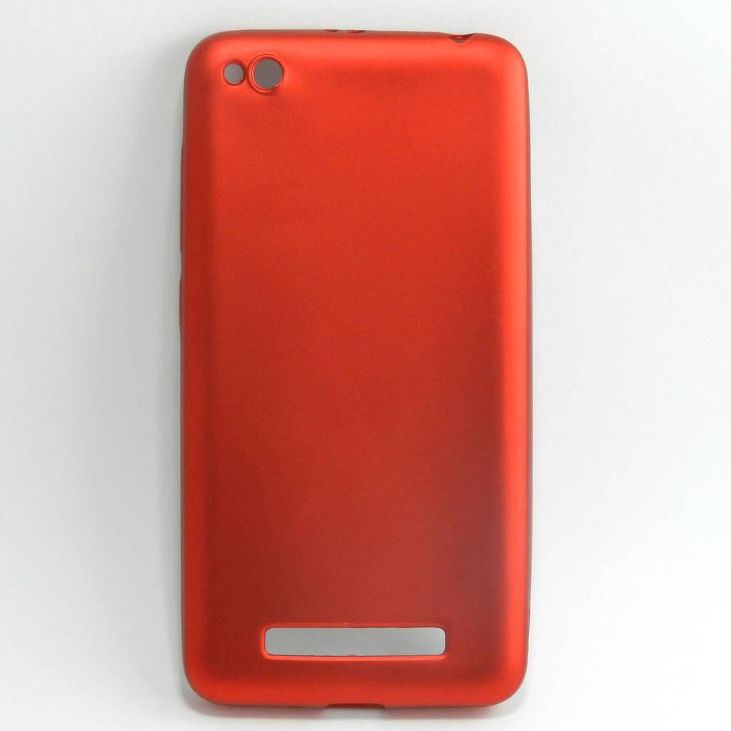 Чехол накладка для Xiaomi Redmi 4A силиконовый матовый, A-LUX RED Красный