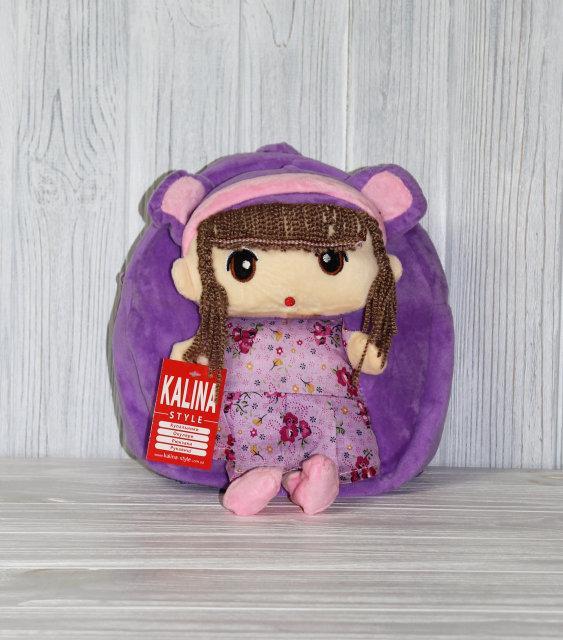 Красивый детский рюкзак для девочки в форме куклы