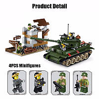 Конструктор Brick 1711 Атака танка: 214 деталей, 4 фигурки