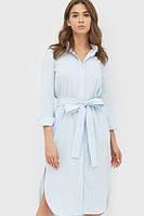 Жіноче голубе плаття-сорочка у смужку Sarra