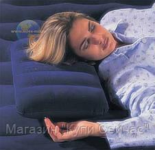 Надувная подушка Intex синяя, Интекс 68672, фото 3
