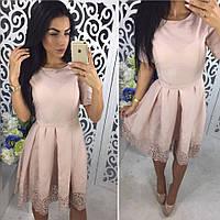 Женское красивое платье х/б из прошвы