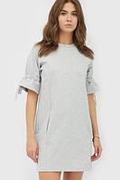Жіноче сіре трикотажне плаття Issa