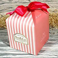 ПРОДАЖА КРАТНО 6 ШТ.! Подарочная коробка складная 21147-03 (розовый)