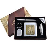 Подарочный набор (4в1) портсигар/брелок/нож/ручка (AL-116В)