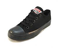 Кеды женские Converse черные (конверсы)(р.36,37,38)
