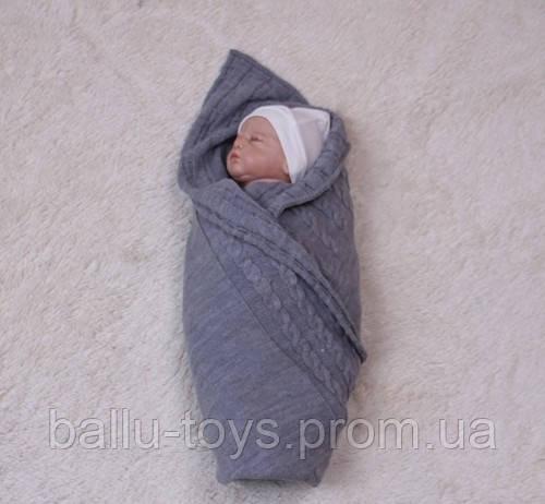 Конверт на выписку для новорожденных Глория (серый)