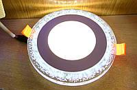Светодиодный светильник встраиваемый (даунлайт) с зеркальной подсветкой Right Hausen Bubble 6W+3W
