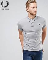 Модная серая футболка поло Fred Perry
