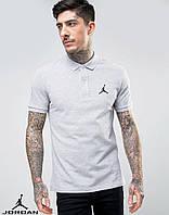 Молодежная серая футболка поло Jordan