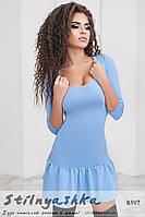 Очаровательное голубое женское платье
