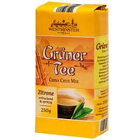 Зеленый чай с ароматом лимона  Westminster Gruner Tee Zitrone  250 гр.