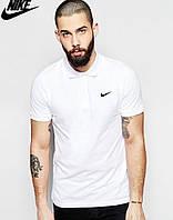 Белая футболка поло мужская найк