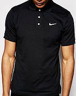 Мужская черная футболка поло найк