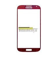 Скло модуля Samsung i9500 original червоне
