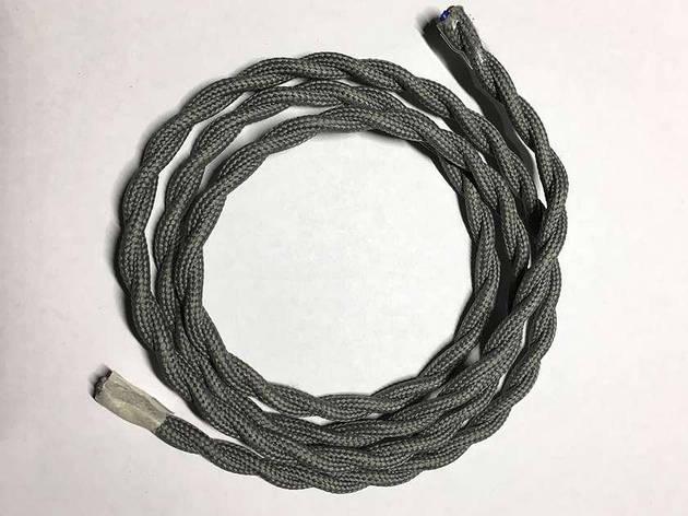 Текстильный витой провод (серый), фото 2