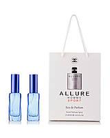 Парфюм 2 по 20 мл в подарочной упаковке Allure Homme Sport Chanel для мужчин