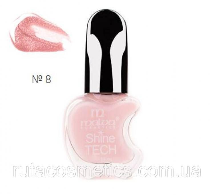 Malva cosmetics лак для ногтей Shine TECH 8