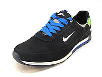 Кроссовки мужские  Nike кожаные синие (р.42,44)