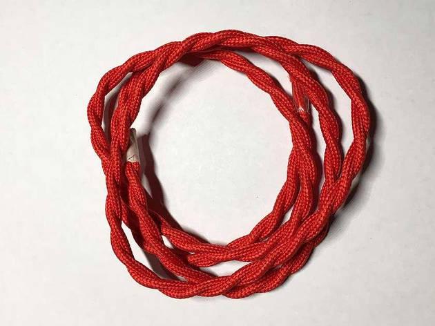 Текстильный витой провод (красный), фото 2