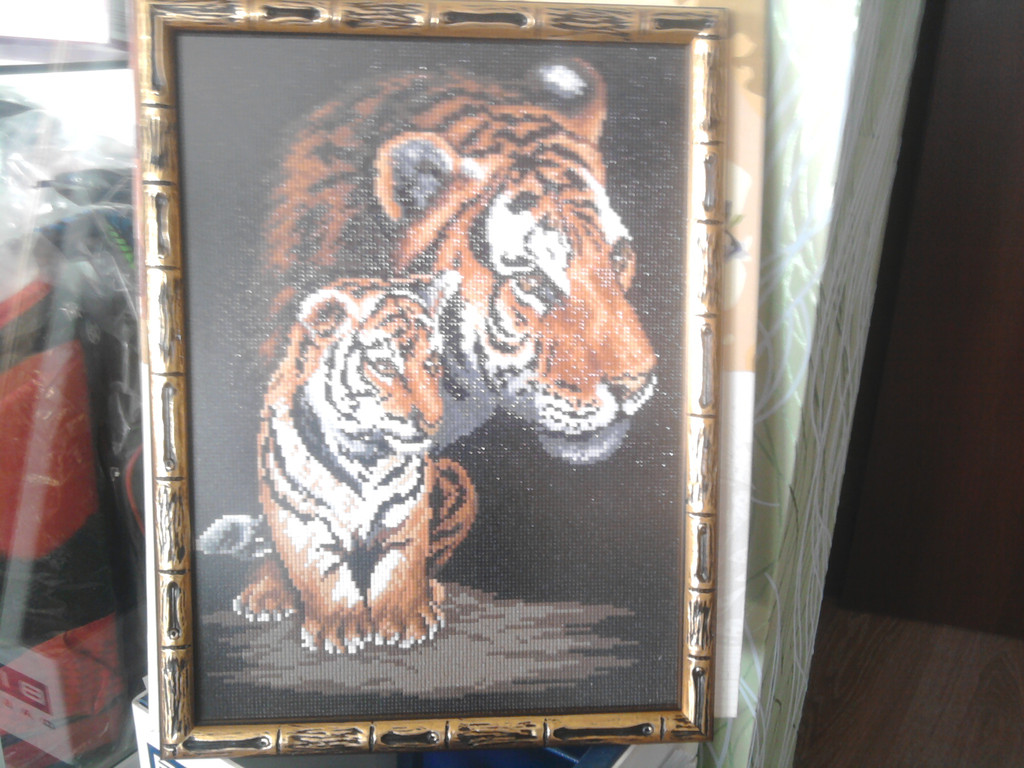 "Набор для рисования камнями ""Тигрица и тигренок"""