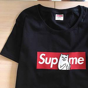 Supreme x RIPNDIP  - Футболка черная