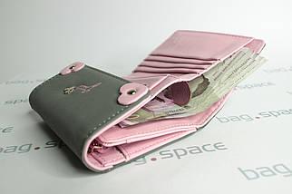 Кошелек женский PrettyZys Mouse Lucy, серый+розовый, фото 3