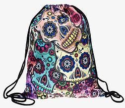 """Рюкзак-мешок """"Мексиканские черепа"""""""
