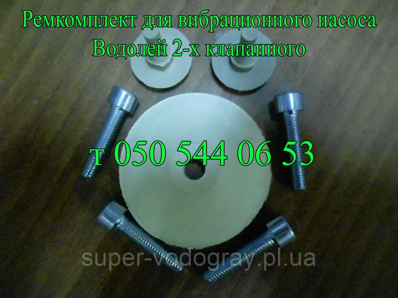 Ремкомплект для вибрационного насоса Водолей 2-х клапанный