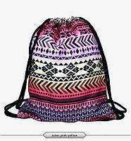"Рюкзак-мешок ""Орнамент стрелки"" aztec pink-yellow"