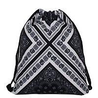 """Рюкзак-мешок """"Чёрно-белый крест"""""""