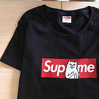 Supreme RipNDip топовая женская футболка. Бирки и фотки оригинальные