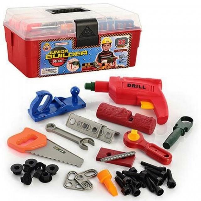 Набор инструментов 2059 в чемодане. Детская мастерская.