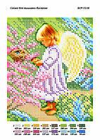 """Схема для частичной вышивки бисером 12х15 см  """"Ангелочек"""""""