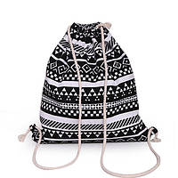 "Рюкзак-мешок ""Орнамент"" White+Black"