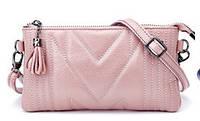 Мини-сумка женская из натуральной кожи Firena Diana, розовая