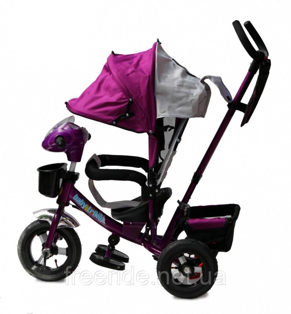 Детский трехколесный велосипед Baby trike CT-60 фиолетовый