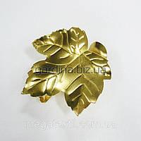 Прищепка для штор лист золото