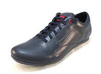 Туфли мужские спортивные Nike  кожаные, синие (р.40)