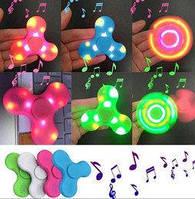 Светящийся музыкальный спиннер с Bluetooth /Спинер лед/ спинер с led лампочками / светящийся с usb /