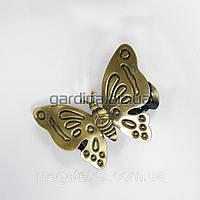 Прищепка для штор бабочка бронзов.