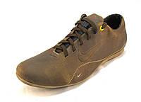 Туфли мужские спортивные Nike  кожаные оливковые(р.42,44)