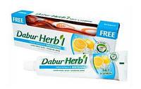 Натуральная отбеливающая зубная паста соль с лимоном + щетка Dabur  (срок до 01.17г.)