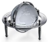 Настольный хрустальный глобус D84мм H60мм  (*G801) Dalvey D00801.